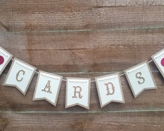 Wedding Card Bunting, Wedding Bunting, Wedding Card Banner, Wedding Banner, Wedding Decoration, Vintage Wedding Bunting, Vintage Bunting