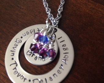 Mother, grandmother necklace