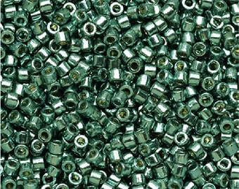 Miyuki Delica DB1847 Seed Beads 11/0 GALVANIZED DURACOAT SeA FOAM 7.2 Gram