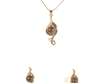 Mothers day  black pearl set