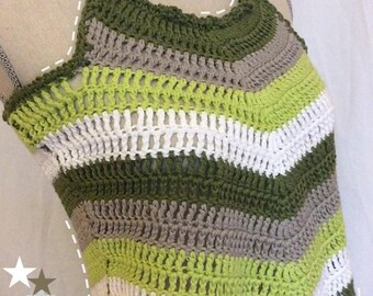 Crocheted strap top