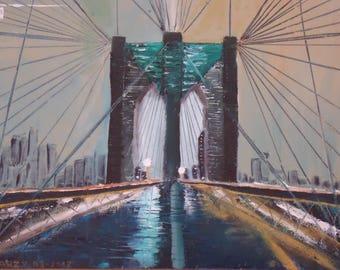 THE BROOKLYN BRIDGE PAINTING MODERN