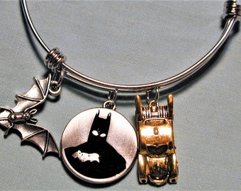 Batman Inspired Bangle Charm Bracelet #2