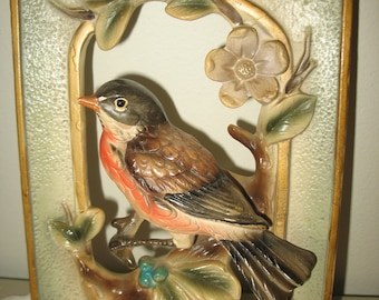 Wall frame with bird wall Japan.decoration. Flower petals.