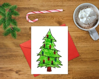 Christmas Tree Card | Printable Christmas Card