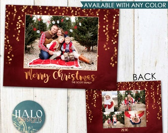 Christmas Cards - Gold Lights