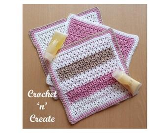 Bathroom Washcloth Crochet Pattern (DOWNLOAD) CNC37