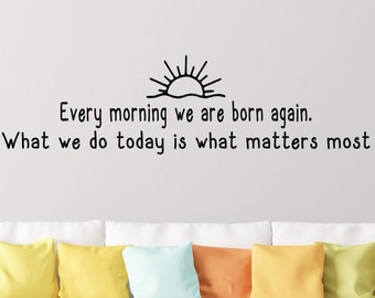 Buddha quote wall decal- Buddha quote decal- Buddha wall decal- Buddha quote wall art- Buddha wall quote- Today is a gift- Today is new day
