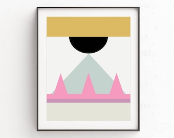 Modern abstract artwork, Contemporary Modern Decor, Scandinavian Modern Prints, Printable geometric wall art, Minimalist Abstract Prints