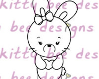 Heart Bun  Digital Stamp