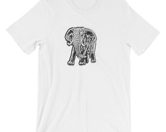 Men's Hand Sketched Elephant tShirt
