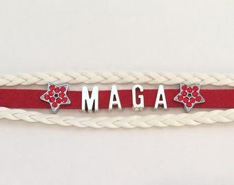 MAGA Wrap Bracelet - Make America Great Again