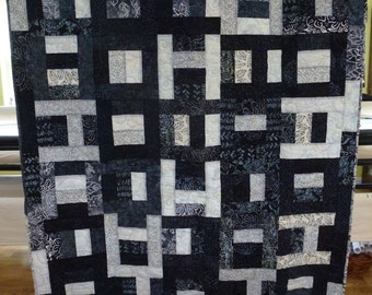 Black and White Batik Quilt