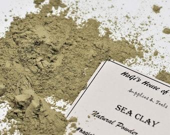 Pure Sea Clay - Sea Clay - Natural Clay - Dead Sea Clay - Clay for Oily Skin & Remove Acne - Skin Care - Facial Masks - Soap Natural Color