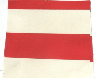 25% OFF - Red Stripes - IKEA Sofia Cotton Fabric Quilting Charm Squares