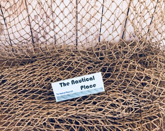 Old Used Fishing Net - HEAVY 5 ft x 10 ft - Vintage Fish Netting - Cleaned & Packaged - Nautical Maritime Decor