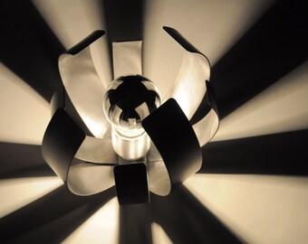 Mid Century Modern Lighting - Vintage Flower Design Lamp - Designer Jocelyne Trocmé (Oxmar 1970's) - Table/Bedside/Reading/Desk Light