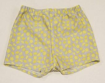 Lemon stipes swim trunks