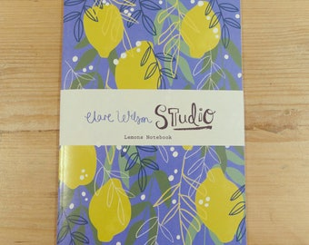 A5 Notebook, Jotter, Sketchbook - Lemons