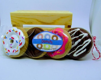 4 Donuts - Wooden Play Food