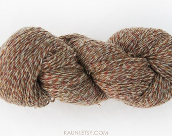 Kauni Yarn, Speckled pattern yarn, grey and brown, Worsted Weight 8/3 3ply