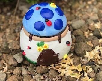 Ladybug Fairy Garden House