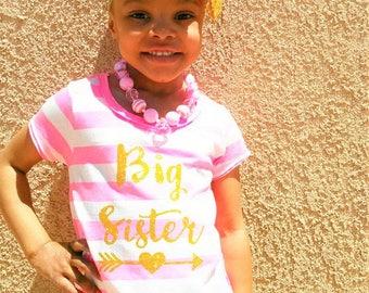 big sister shirt-big sister announcement-big sister shirt little brother- big sister shirt personalized- sister shirt-big sister gift