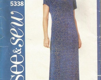 Butterick 5338  See & Sew Dress Pattern SZ 6-10