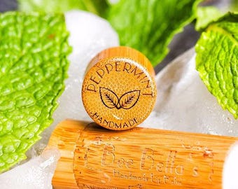 6 Pack - Beeswax Lip Balm - Extra Large Peppermint