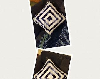 Crochet Granny Square Cushion