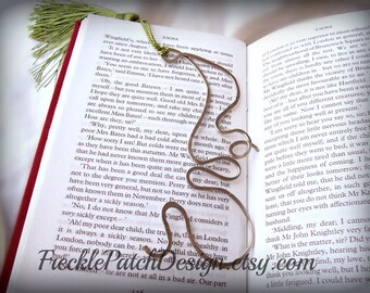 READY to SHIP  Metalwork Bookmark in Nickel Silver,  Greman Silver,   OOAK