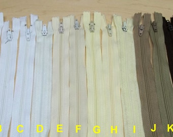 23.5 inches long zippers,brown/yellow/white 23.5 inches long zippers,sewing,crafting projects,costume making,crafting & notions,