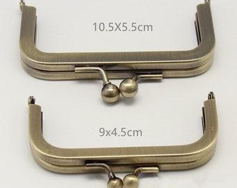 Bronze Metal Purse Frame / Handle Purse Frame 10.5X5.5cm/ 9X4.5cm E337