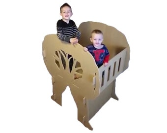 Boys Bedroom Playhouse - Indoor Playhouse - Treehouse - Wooden Play House - Gift for Nephew - Grandkids Gift - Christmas Gift for 4 Year Old