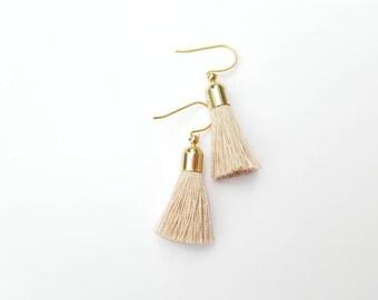 Gold Topped Tassel Earrings- Mother's Day Gift- For Mom