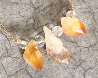 Citrine and Swarovski Crystal