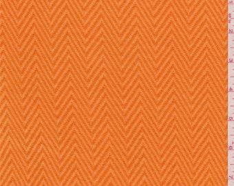Tangerine Orange Herringbone Knit, Fabric By The Yard