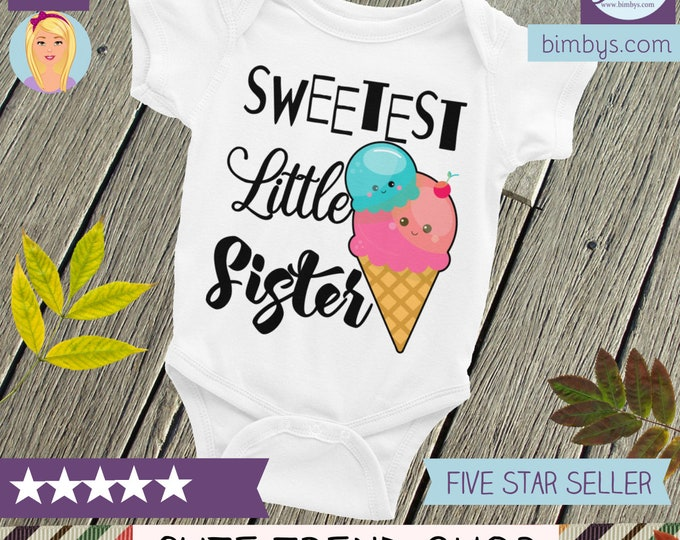 Cute Baby Onepiece-  Little Sister Outfits   Sibling Shirt   Little sister onesie, little sister outfit, little sister shirt