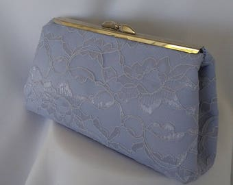 Something blue clutch periwinkle  lace wedding clutch bridesmaid evening prom clutch BBsCustomClutches clutch bridesmaid clutch  lace clutch