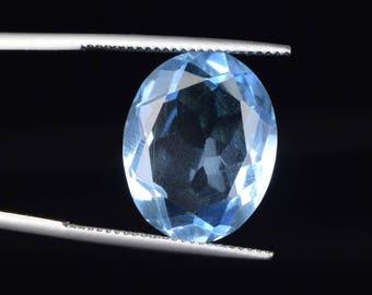 15.50 Ct. Blue Topaz 17 mm Oval Cut Top Quality Gemstone, Ring size blue topaz, November birthstone blue topaz, Loose Gemstone BM-147