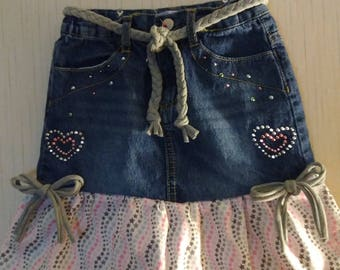 Jean skirt recycled