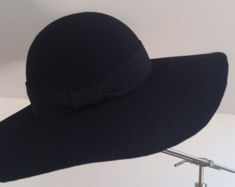 Felt Hat Flapper Black