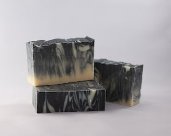 Lavender & Activated Charcoal Goat Milk Soap