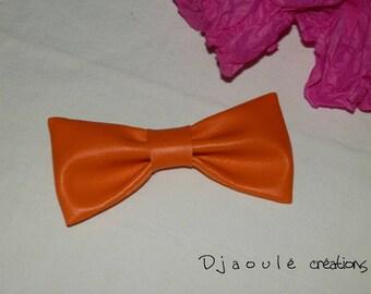 Hair bow * orange *-large format