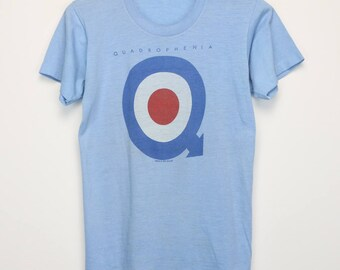 The Who Shirt Vintage tshirt 1973 Quadrophenia tee 1970s Pete Townshend John Entwistle Keith Moon Roger Daltrey Classic Rock n Roll Band