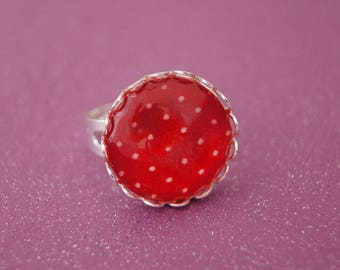 RED - BA009 DOTS RING