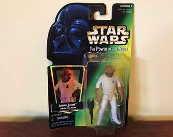 Vintage Star Wars Admiral Ackbar Toy Figure