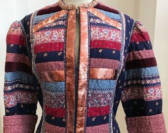 60s Folk floral jacket