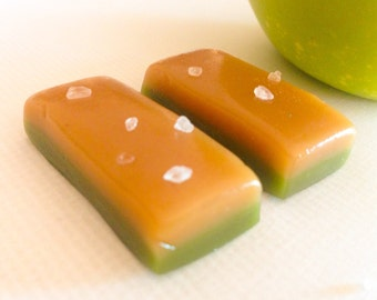 Caramel Apple Caramels - 8 oz. Bag - Small batch, hand wrapped, tart, sweet and salty, caramel