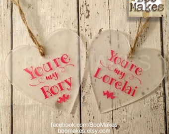 You're my Rory and You're my Lorelai Gilmore Girls heart decorations | Mother and daughter Gilmore girls